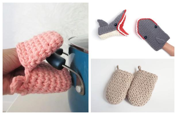 Shark Kitchen Mitten Free Crochet Patterns