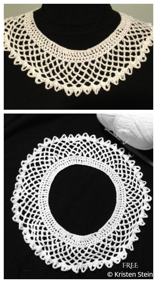 Lace RBG Legacy Collar Collar Free Crochet Patterns