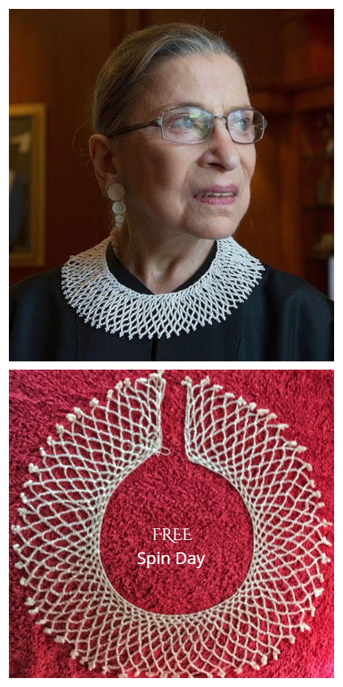 Lace Dissent RBG Collar Free Crochet Patterns
