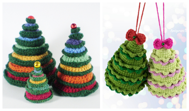 Round in Circles Christmas Tree Free Crochet Patterns