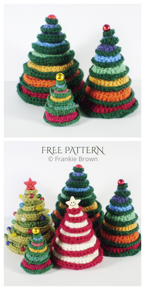 Going Round in Circles Christmas Tree Free Crochet Patterns