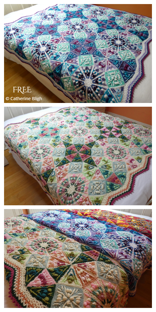 The Kaleidoscope Blanket Free Crochet Pattern