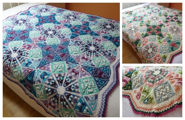 The Kaleidoscope Blanket Free Crochet Pattern