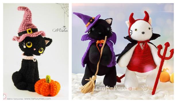 Crochet Halloween Cat Amigurumi Free Patterns