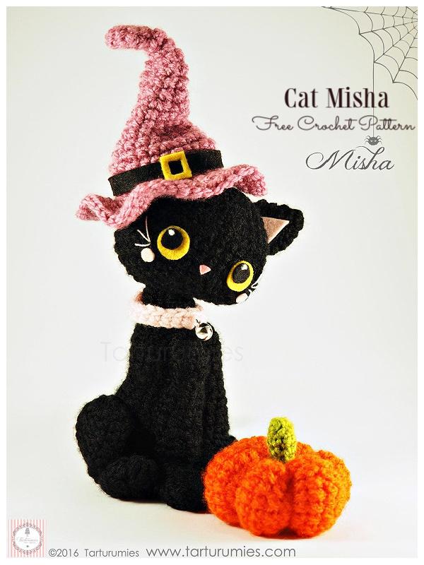 Crochet Halloween Black Cat MishaAmigurumi Free Pattern