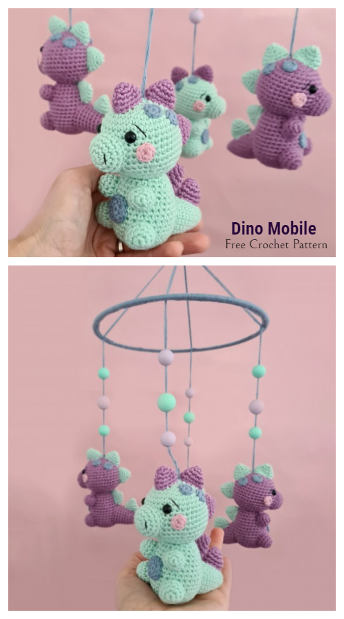 Baby Dino Mobile Free Crochet Patterns