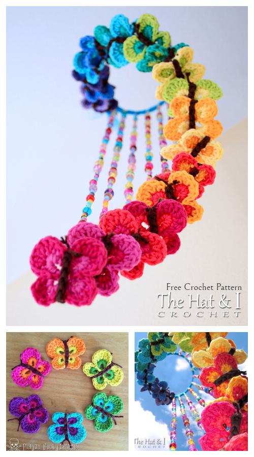 Baby Bountiful Butterflies Mobile Free Crochet Patterns