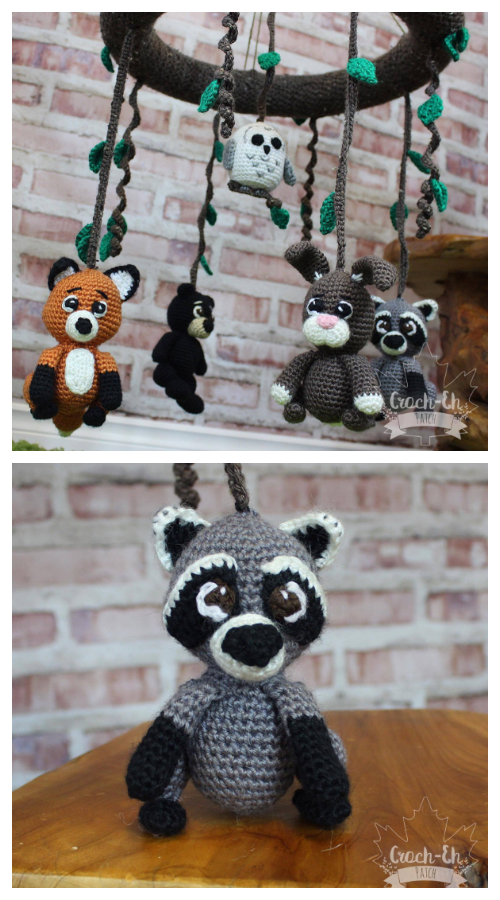 Baby Woodland Nursery Mobile Crochet Patterns