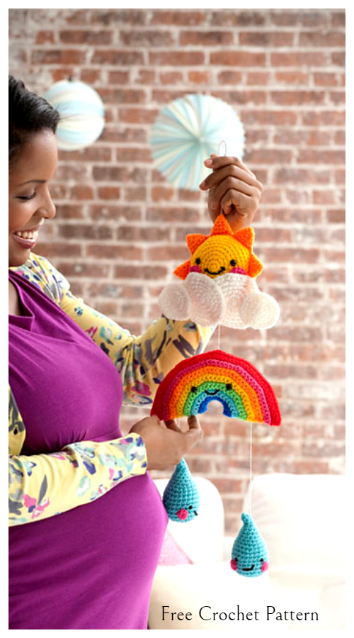 Baby Sunshine Mobile Free Crochet Patterns