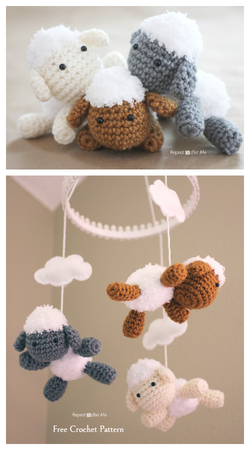 Baby Lamb Mobile Free Crochet Patterns