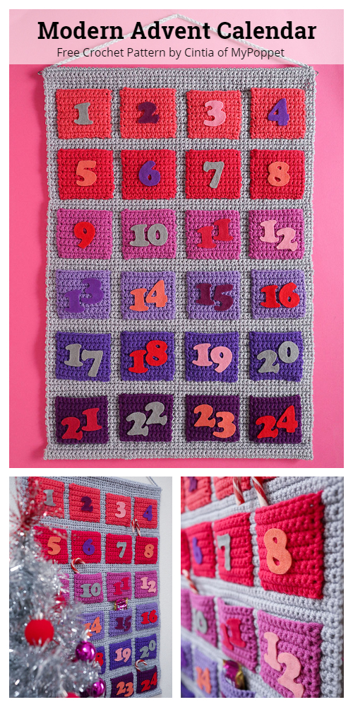 Modern Advent Christmas Calendar Free Crochet Patterns