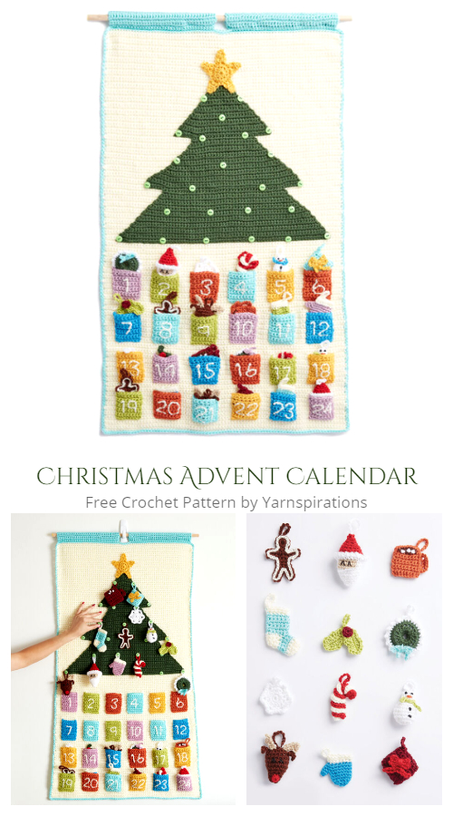 Countdown to Christmas Advent Calendar Free Crochet Patterns