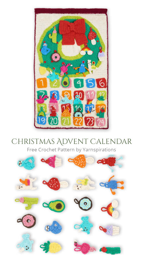 Modern Christmas Advent Calendar Free Crochet Patterns