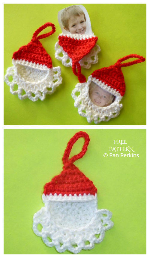 Santa Frame Ornament  Free Crochet Patterns