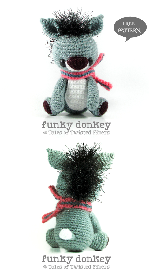 Crochet Funky Donkey Amigurumi Free Patterns