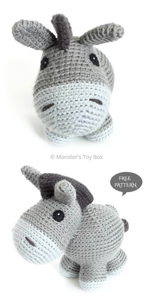 Crochet Donkey Amigurumi Free Patterns