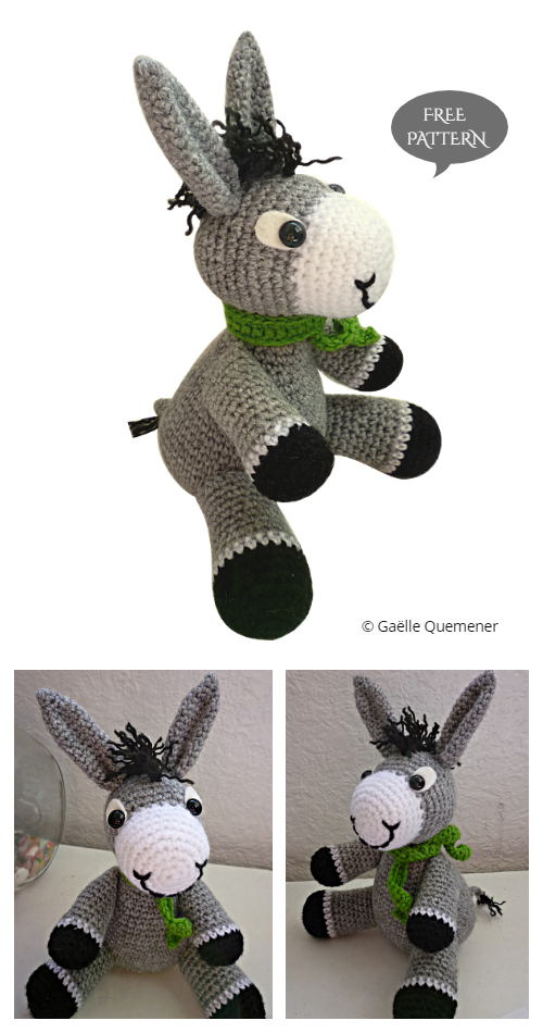 Crochet Perki the donkey Amigurumi Free Patterns