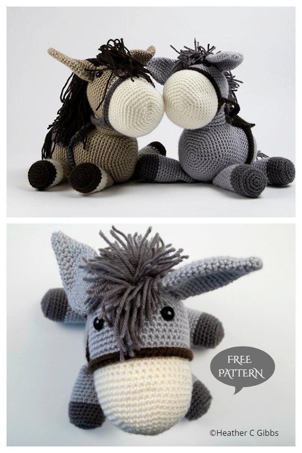 Crochet Donkey Dougie Amigurumi Free Patterns