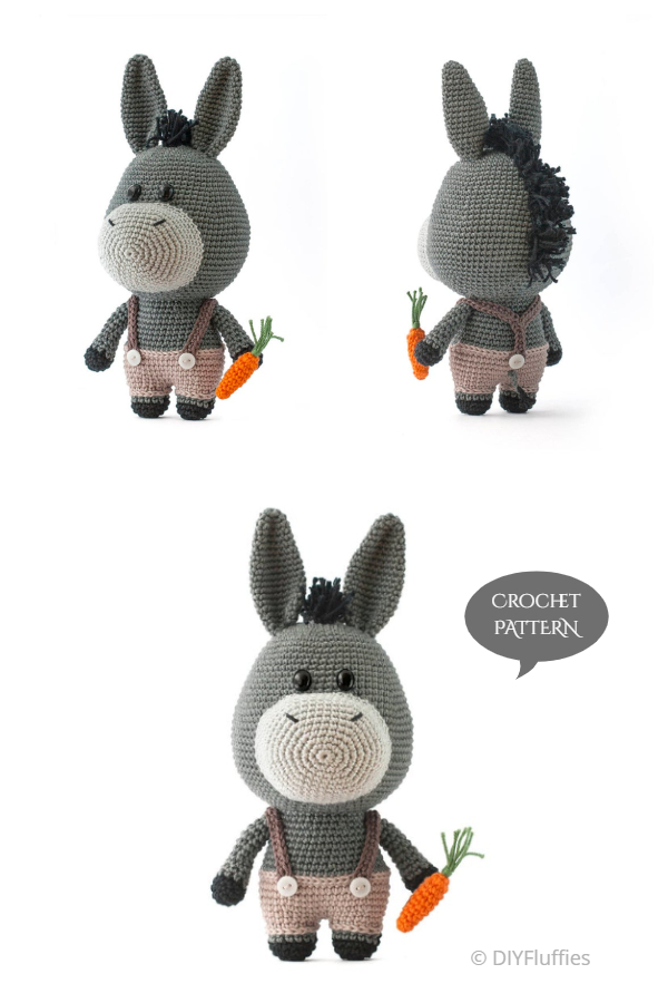 Crochet Bernard the Donkey Amigurumi Patterns