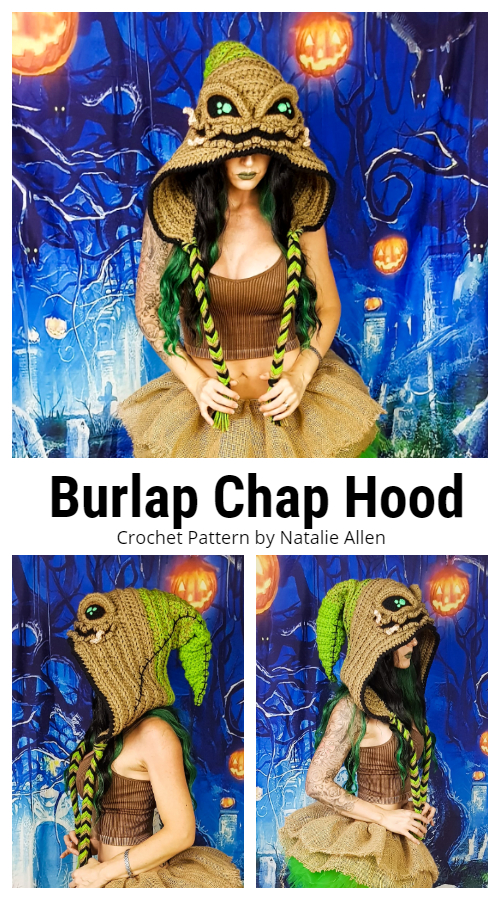 Burlap Chap Hood Hat Crochet Patterns
