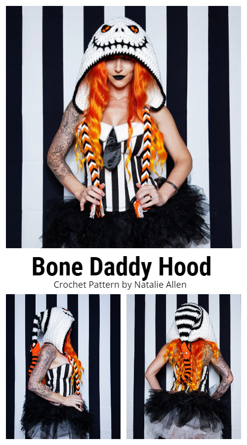 Bone Daddy Hood Hat Crochet Patterns