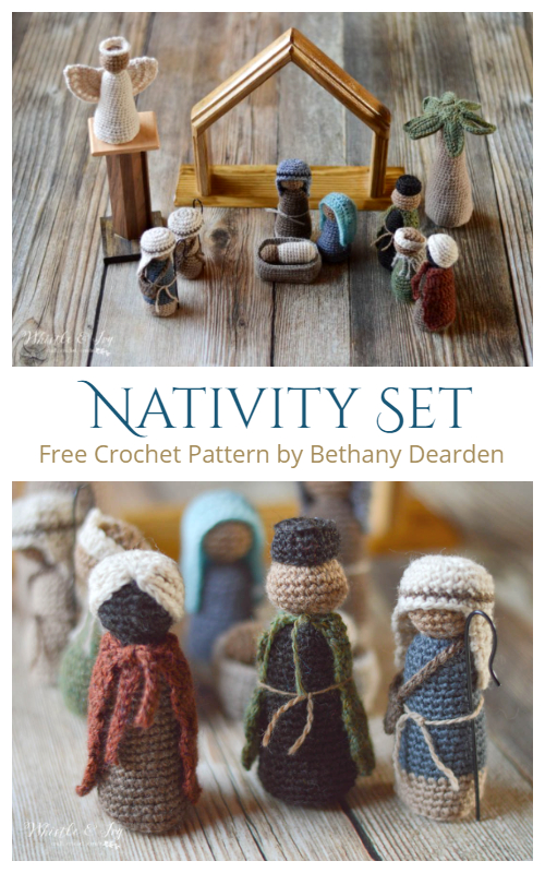 Amigurumi Nativity Set Free Crochet Patterns