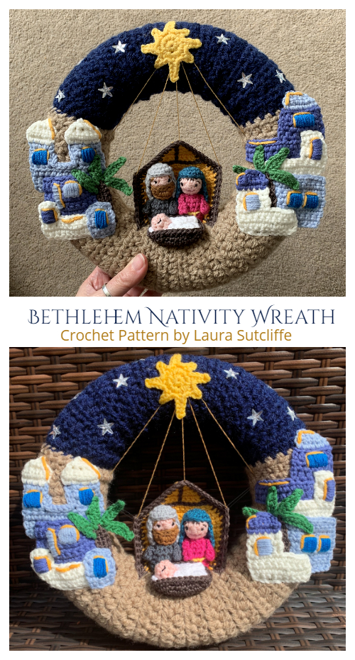 Bethlehem Nativity Wreath Crochet Patterns