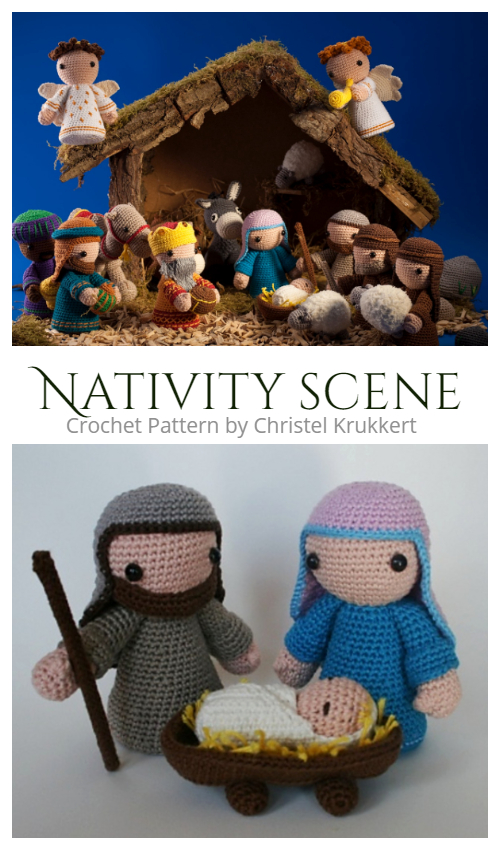 Amigurumi Nativity Scene Set Crochet Patterns