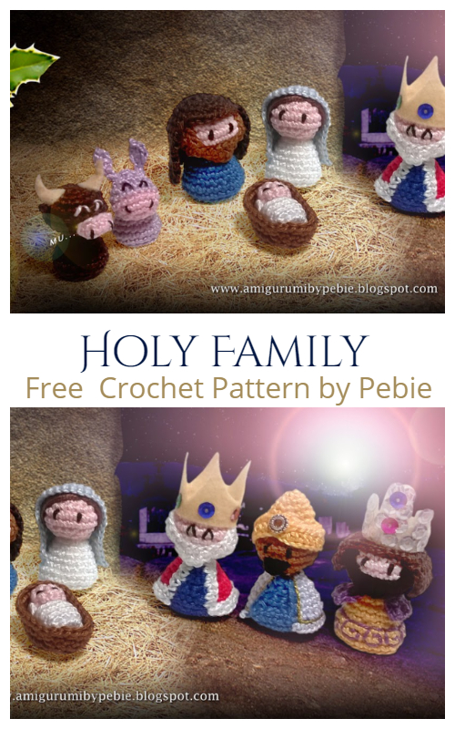 Amigurumi Holy Family Nativity Set Free Crochet Patterns