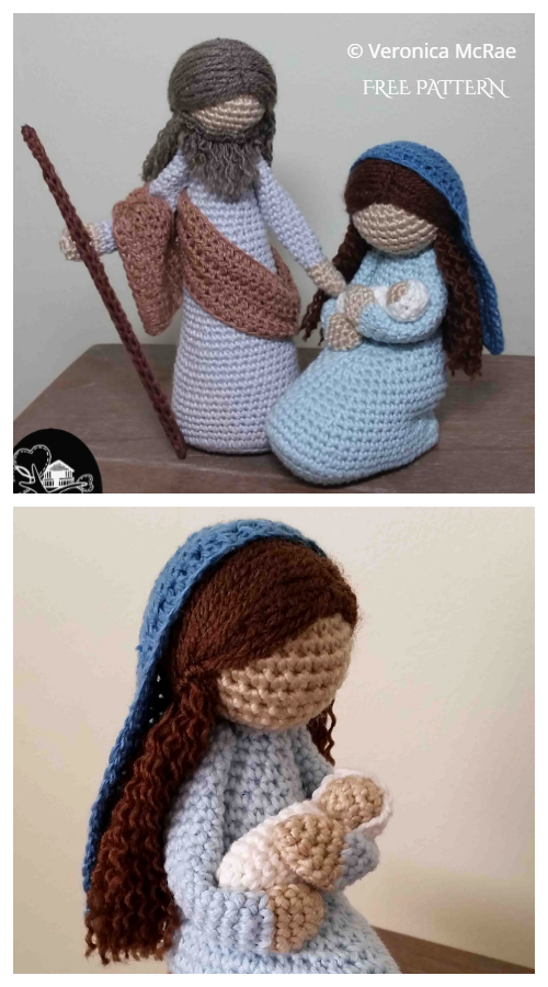 Amigurumi Mary and Jesus Free Crochet Patterns