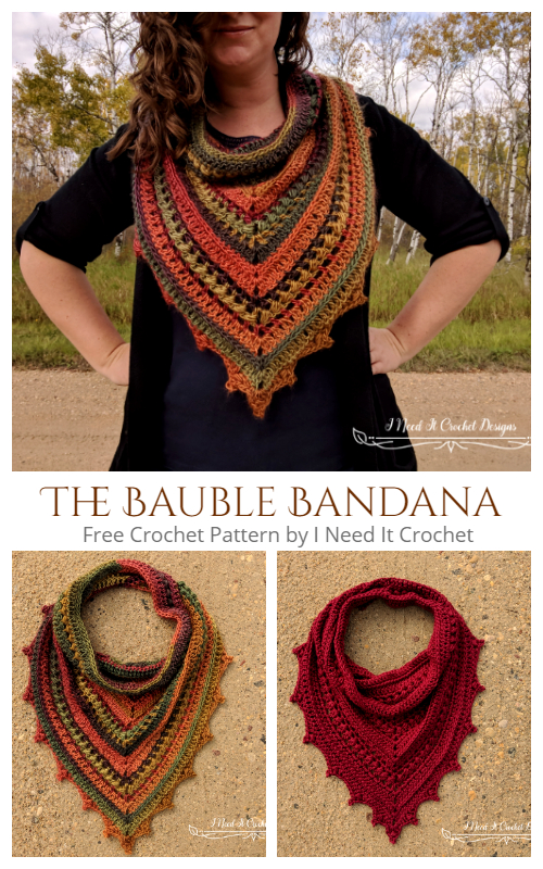 The Bauble Bandana Cowl Free Crochet Patterns