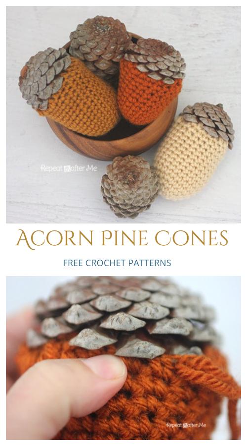 Acorn Pine Cone Free Crochet Patterns