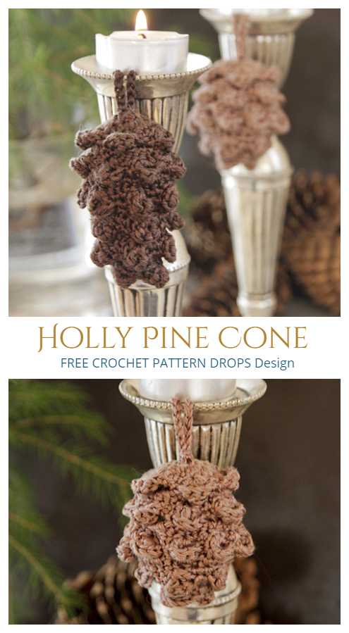 Holly Pine Cone Free Crochet Patterns