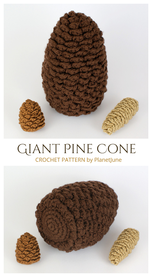 Giant Pine Cone Crochet Patterns