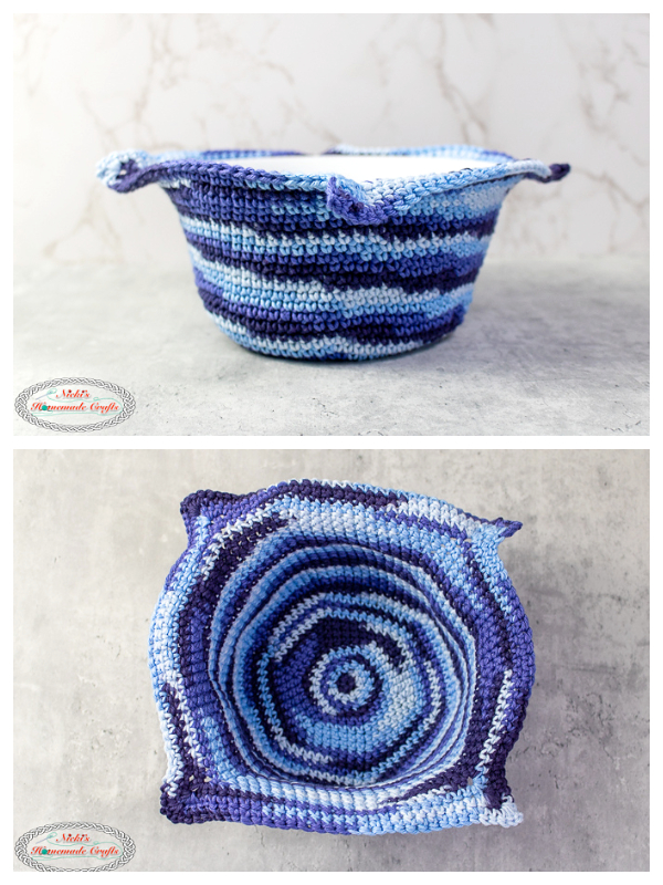 Large Cotton Bowl Cozy Free Crochet Patterns