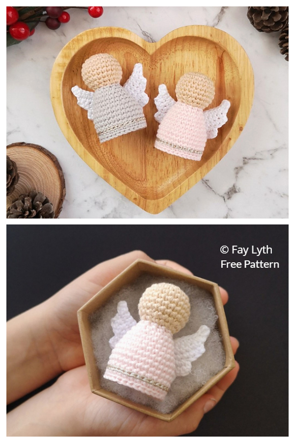 Amigurumi Christmas Angel Ornament Free Crochet Patterns
