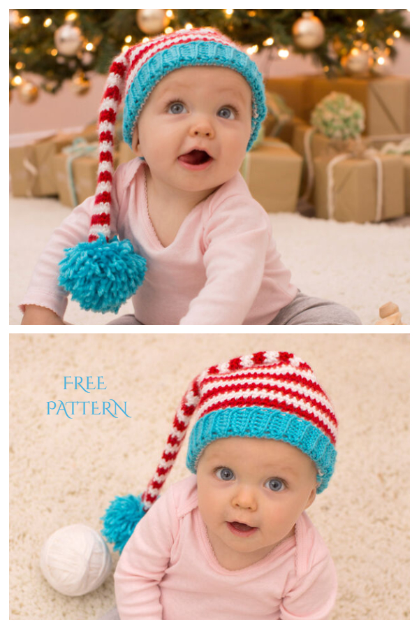 Christmas Baby Elf Hat Free Crochet Patterns
