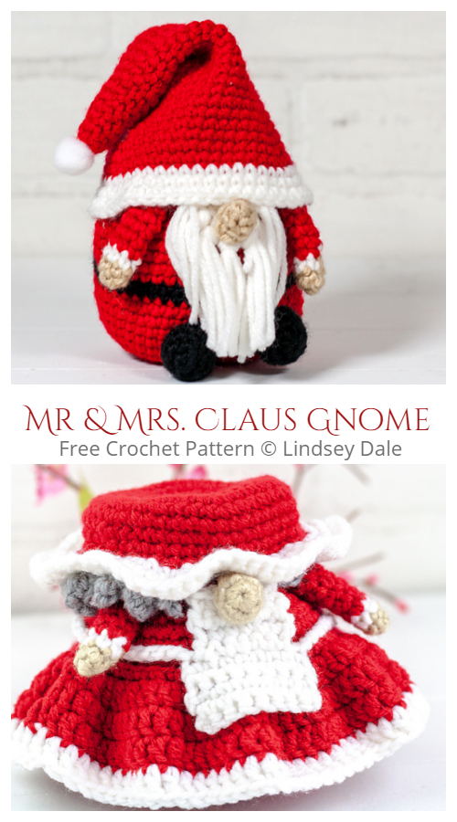 Crochet Christmas Santa Gnomes Amigurumi Free Patterns