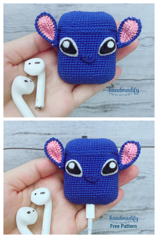 Stitch Airpods Case Free Crochet Patterns