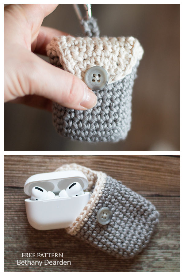 Simple Airpods Pouch Free Crochet Patterns