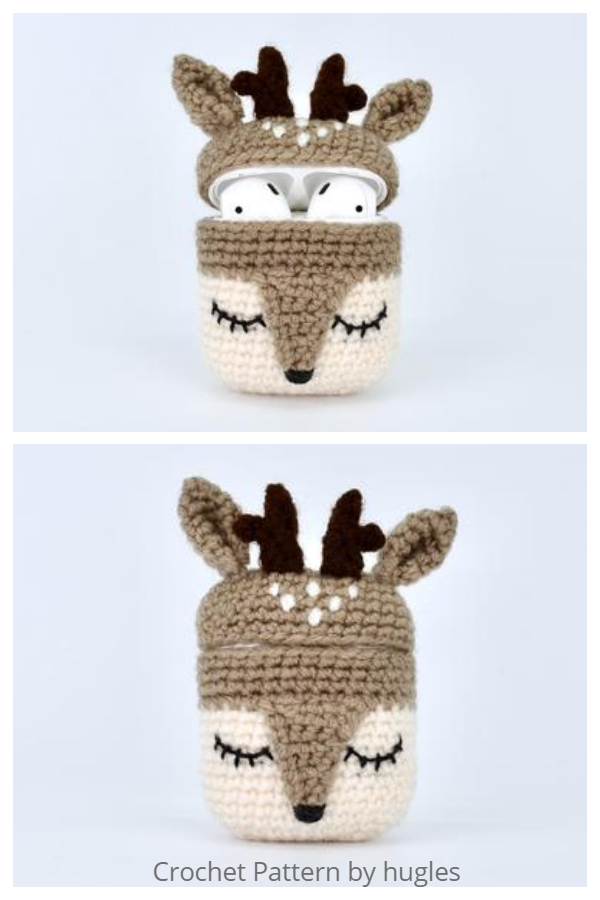 Deer  Airpods Case Crochet Patterns
