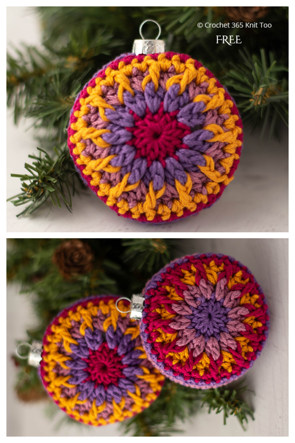 Vintage Vibe Christmas Ornament Free Crochet Pattern