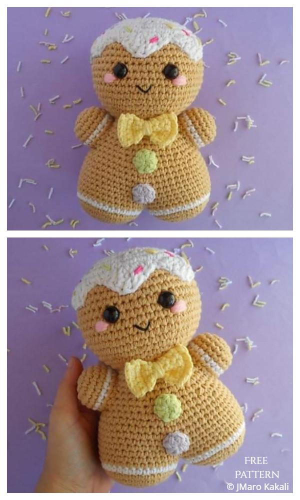 Christmas Crochet Gingerbread Man Amigurumi Free Patterns