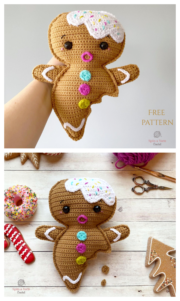 Christmas Crochet Gingerbread Boy Amigurumi Free Patterns
