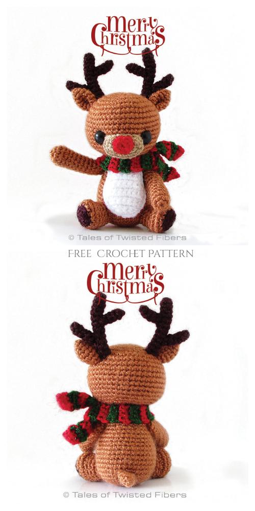 Christmas Crochet Rudy The Reindeer Amigurumi Free Patterns
