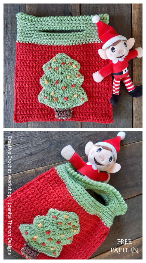 Merry Christmas Tree Gift Bag Free Crochet Patterns