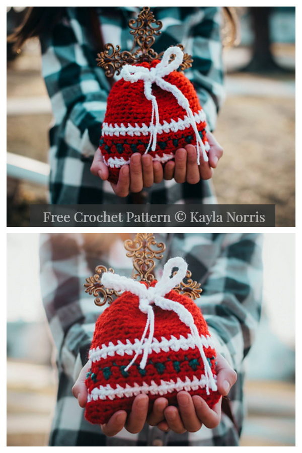 Christmas Gift Bag Set in 4 Sizes Free Crochet Patterns