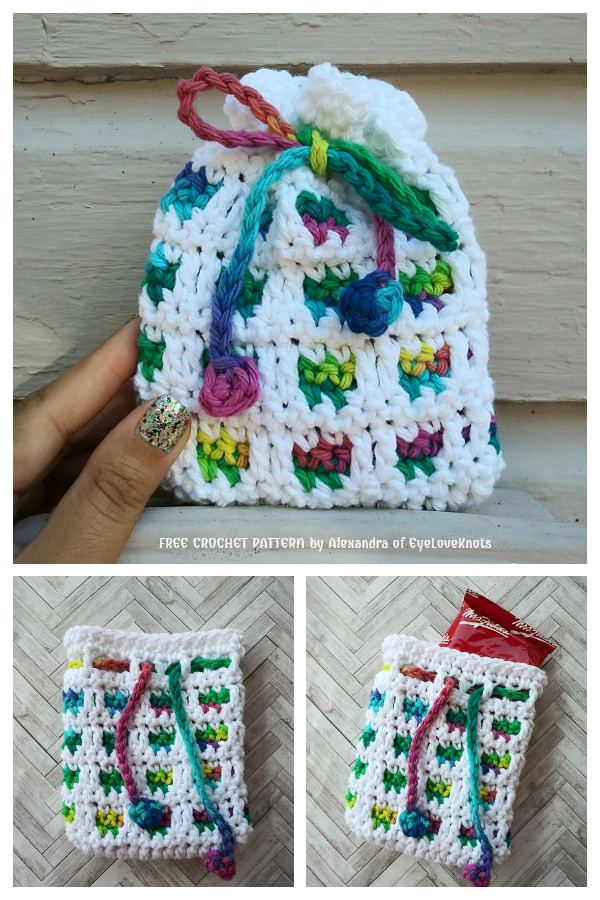 Small Window Christmas Gift Bag Free Crochet Patterns
