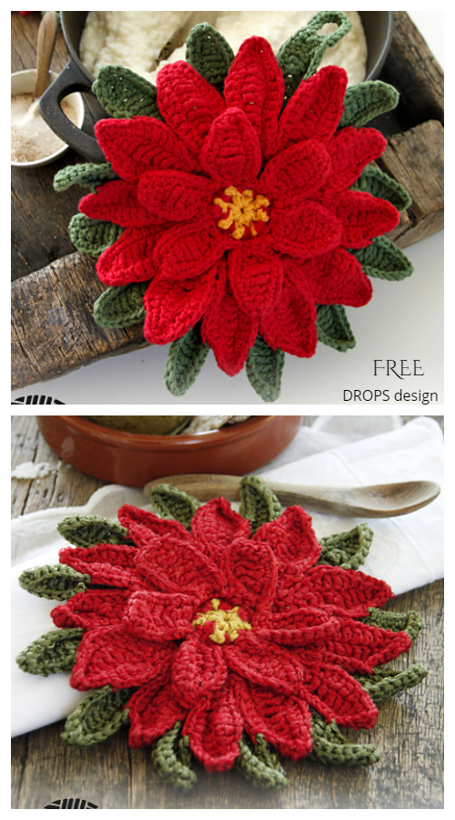 Christmas Star Potholder Free Crochet Patterns