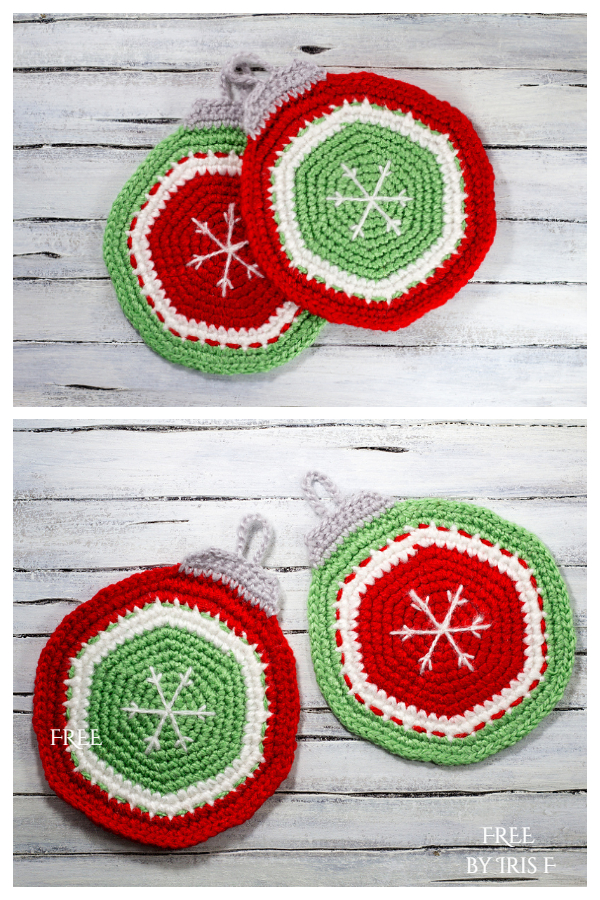 Christmas Ornament Potholder Free Crochet Patterns